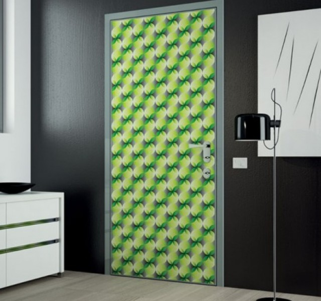 Neon-Green-Door-Design-by-Karim-Rashid