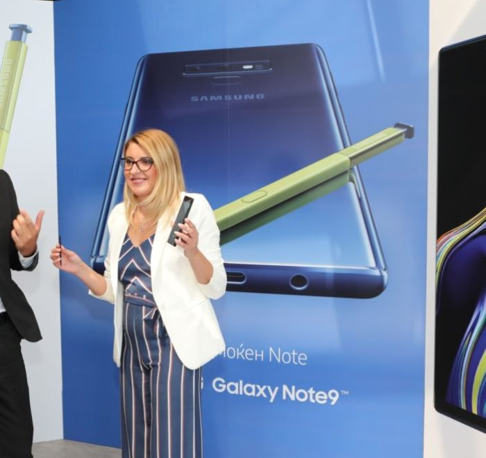 Samsung NOTE 9_Ms Ivana Gogova presenting device features_23.08.2018